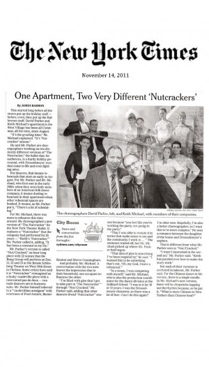One Apartment, Two Very Different 'Nutcrackers' by James Barron, November 2011