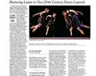 Restoring Luster to Two 20th-Century Dance Legends by Alastair Macaulay, February 2008